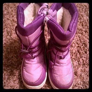 Rugged bear snow boots purple toddler girl